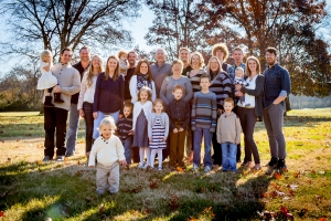 Large Family in Park-0112