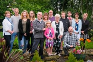 Family in Garden-